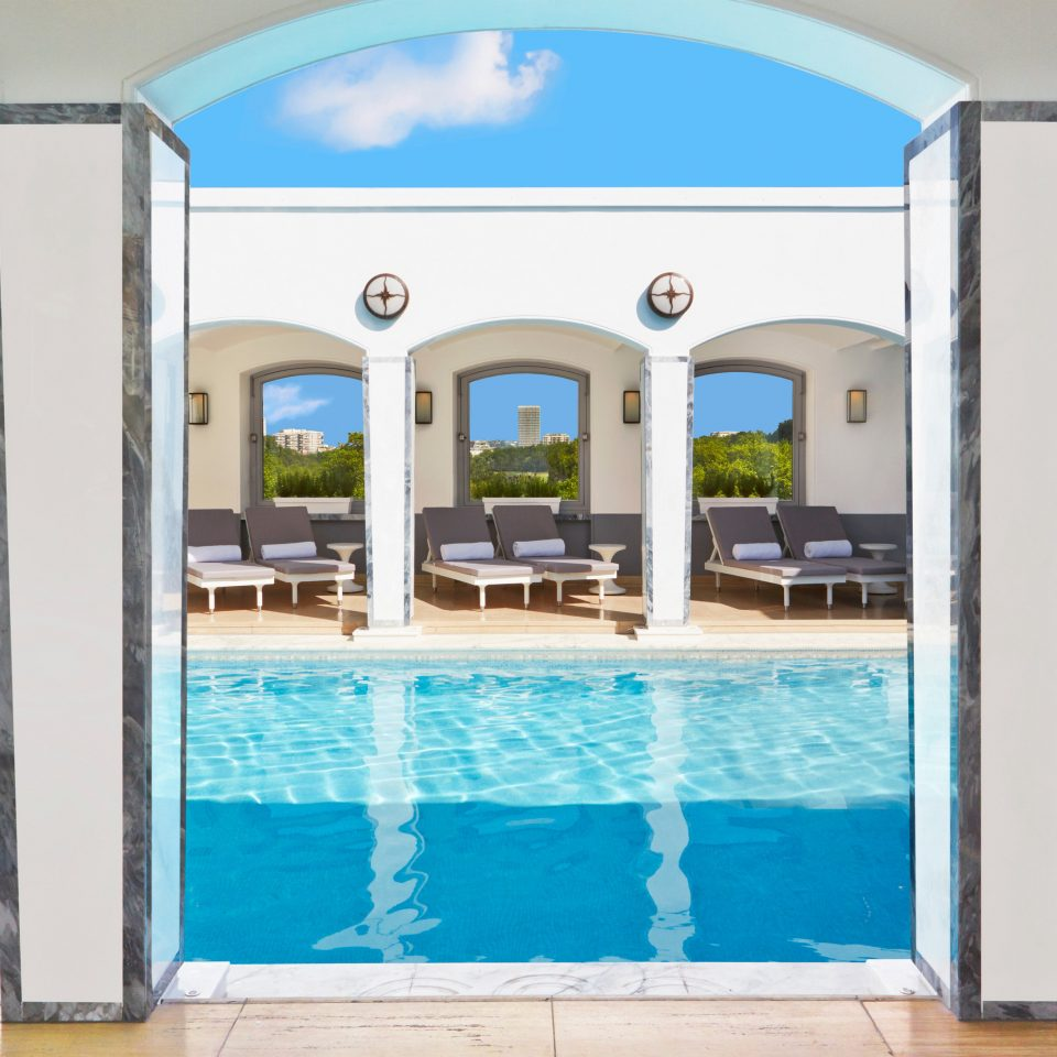 swimming pool leisure property leisure centre Resort condominium blue Villa mansion