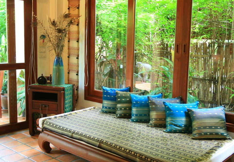Resort cottage home porch living room mansion Villa blue