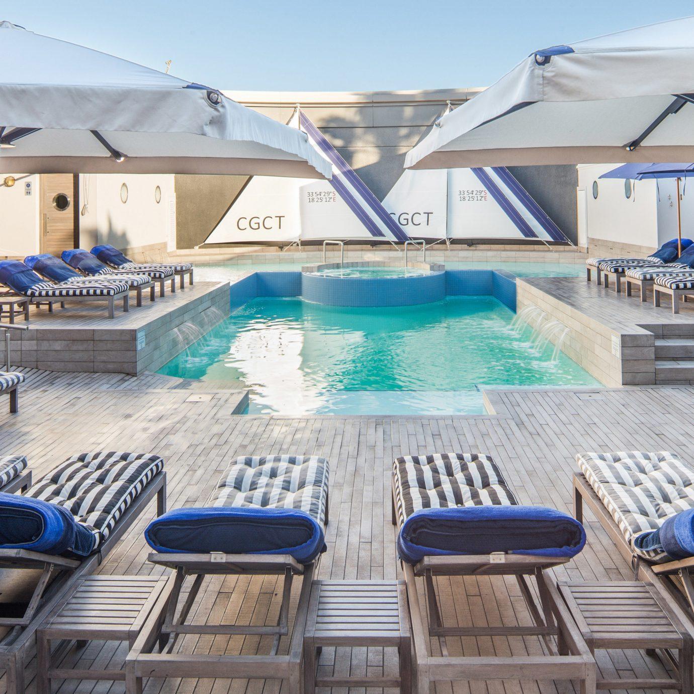 sky swimming pool leisure property marina dock Resort vehicle yacht passenger ship Villa blue
