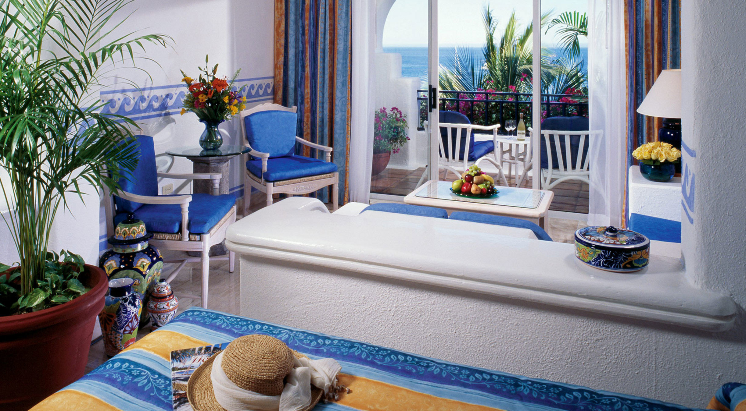 blue home Resort living room mansion Villa plant