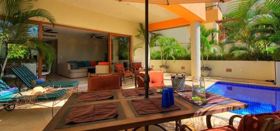 property Resort building Villa cottage condominium hacienda home eco hotel restaurant colorful