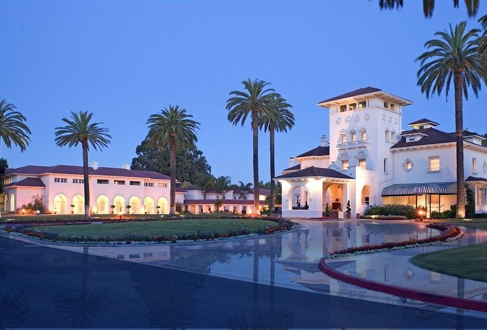 sky palm property Resort building swimming pool home Villa mansion condominium hacienda light colorful