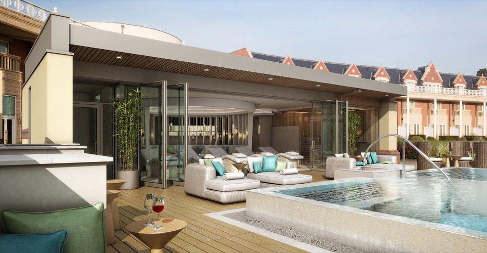 sky property swimming pool Villa Resort building condominium home hacienda mansion outdoor structure