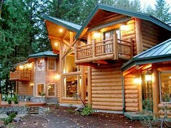 tree building log cabin property house home Resort cottage siding eco hotel Villa farmhouse porch