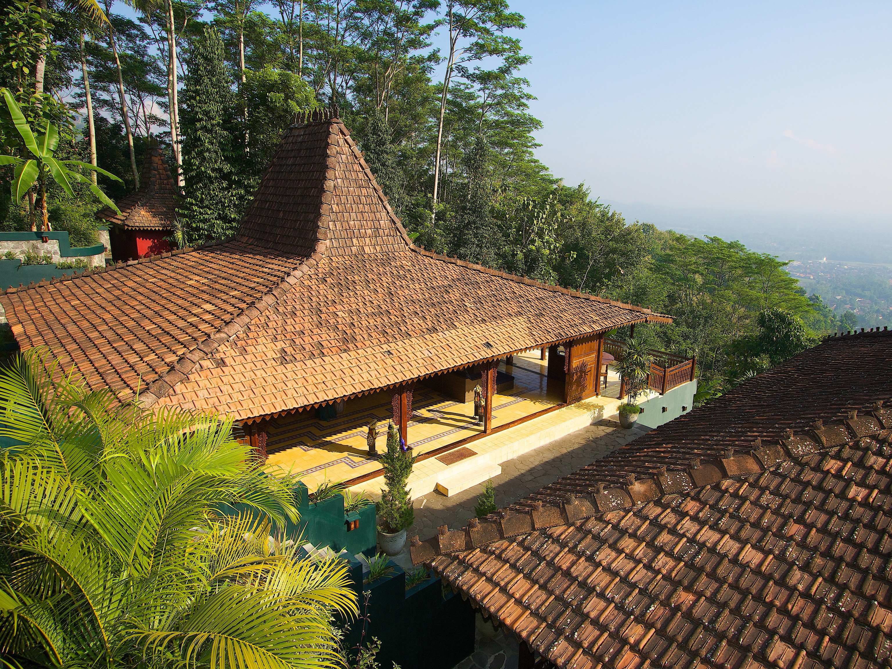 tree building thatching Resort roof hut outdoor structure cottage Villa