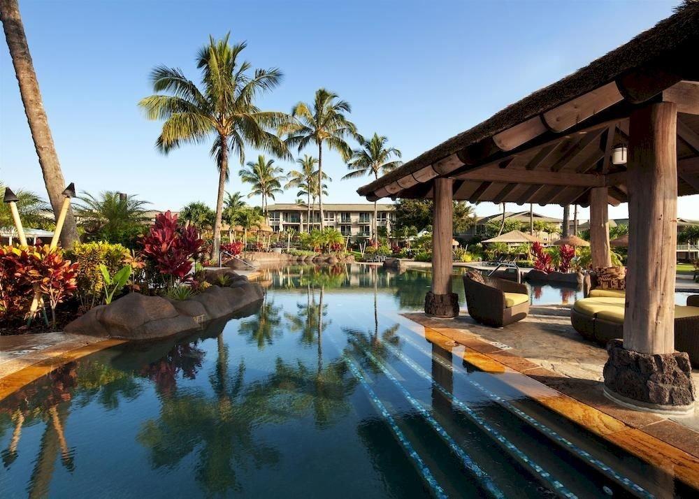 sky tree building Resort property palm swimming pool Villa hacienda eco hotel porch