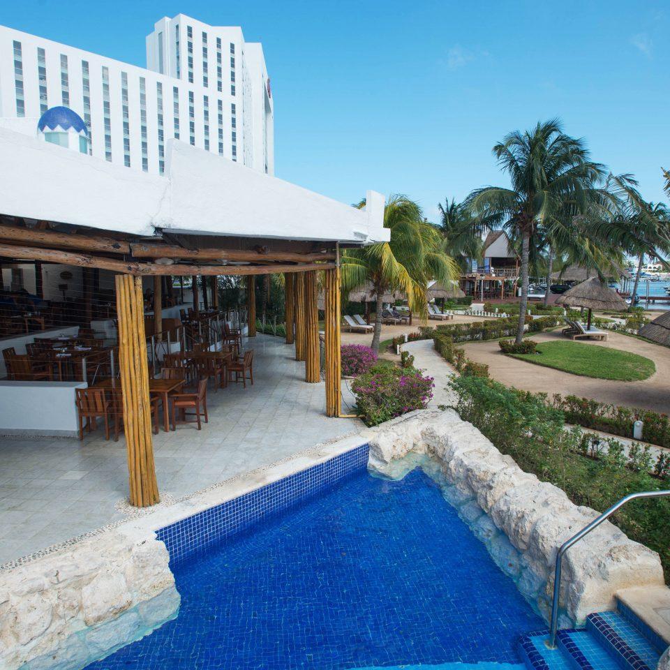 sky property swimming pool leisure Resort building Villa home hacienda mansion