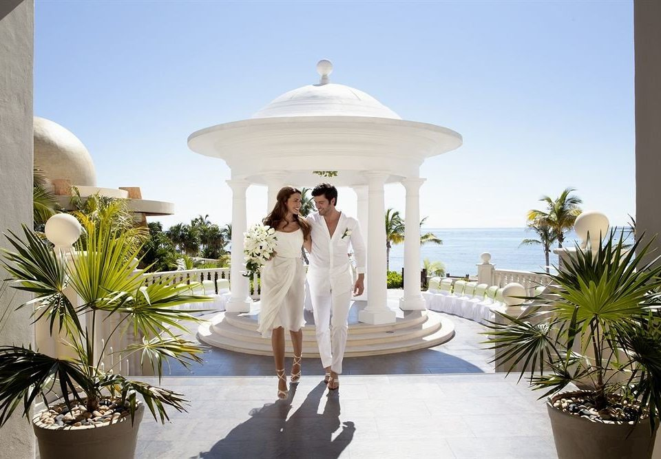 plant wedding ceremony home Resort caribbean Villa mansion palm