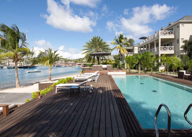 sky swimming pool property Resort leisure walkway dock wooden condominium empty Villa caribbean marina road