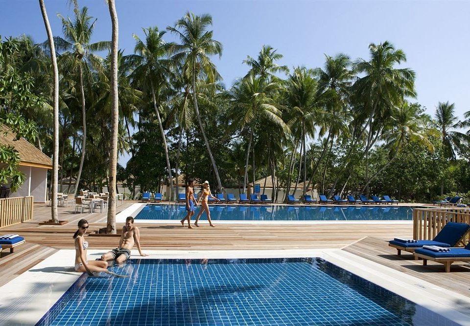 tree sky ground swimming pool leisure property Resort palm Villa park condominium caribbean dock sunny day
