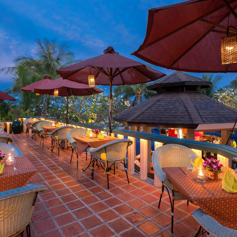 umbrella chair leisure Resort restaurant Villa set colorful