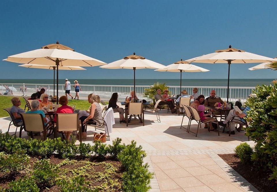 umbrella chair leisure Resort lawn Villa walkway restaurant shore