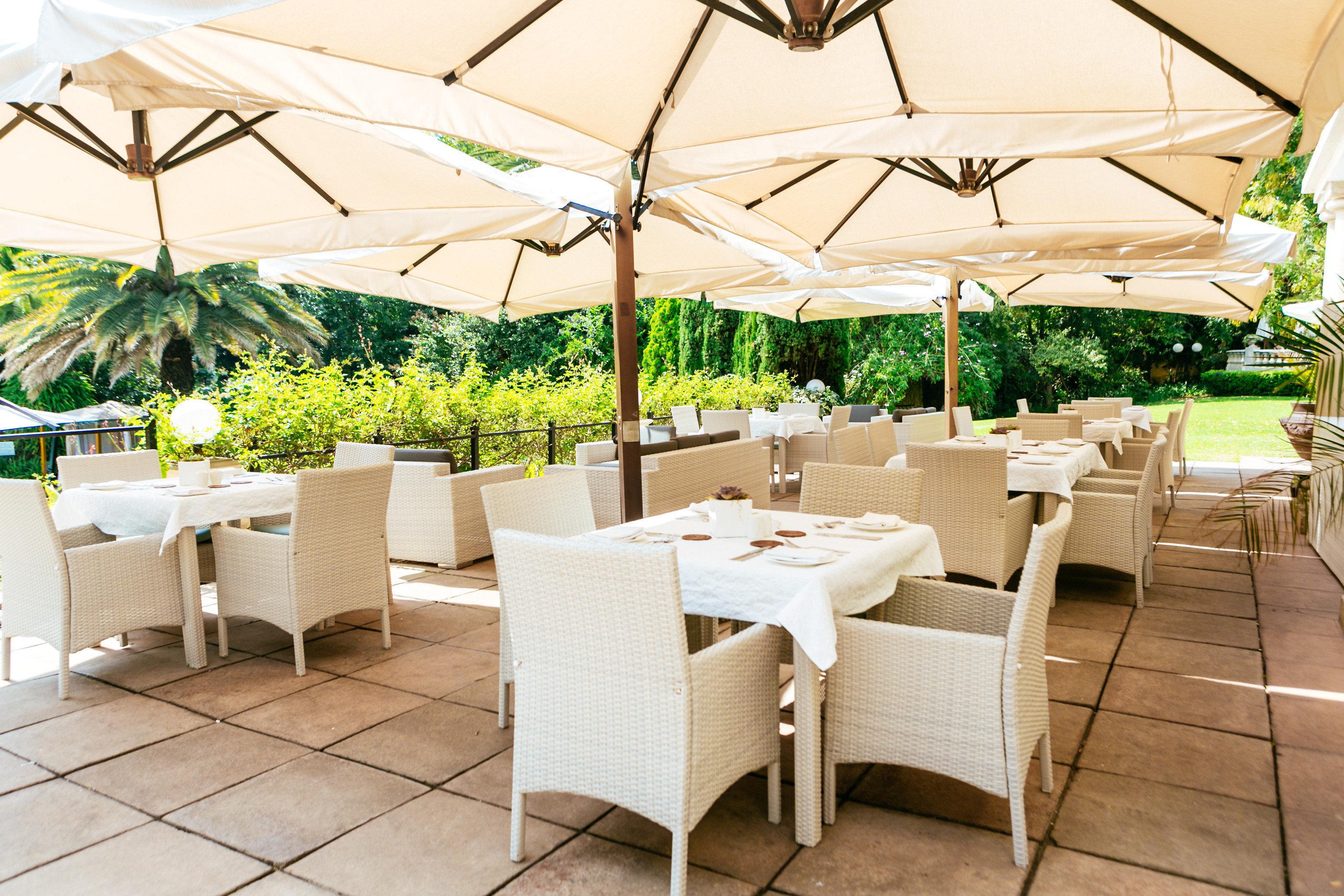 umbrella chair property restaurant Resort Villa outdoor structure