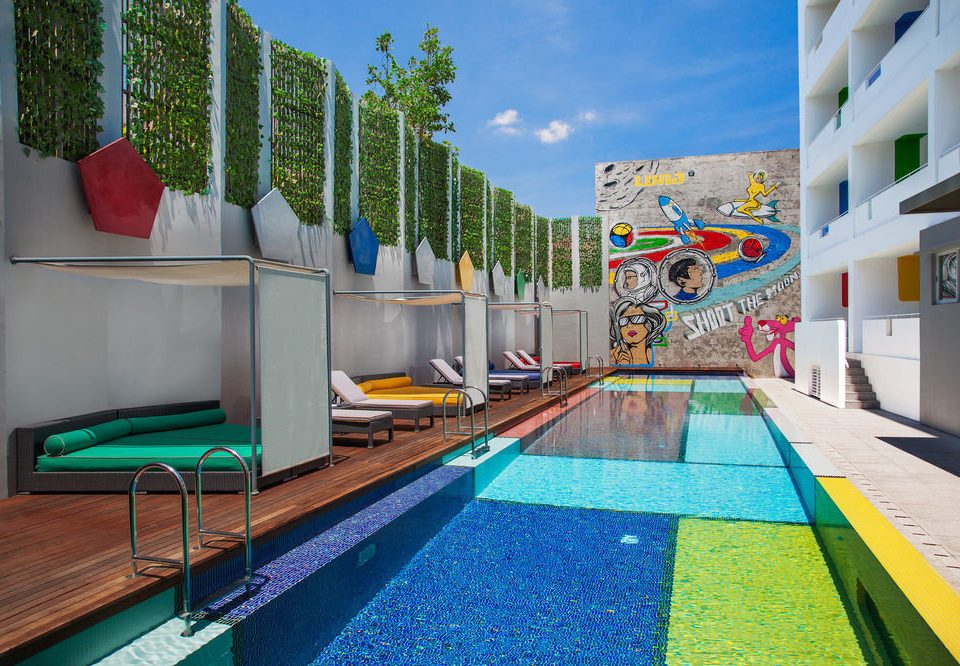 leisure swimming pool Resort condominium Villa colorful colored
