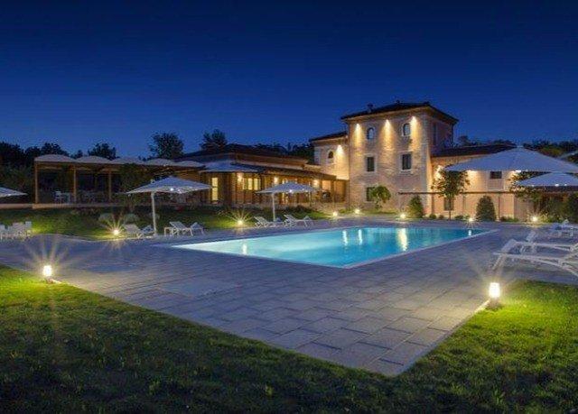 sky grass swimming pool property Resort condominium Villa mansion night home
