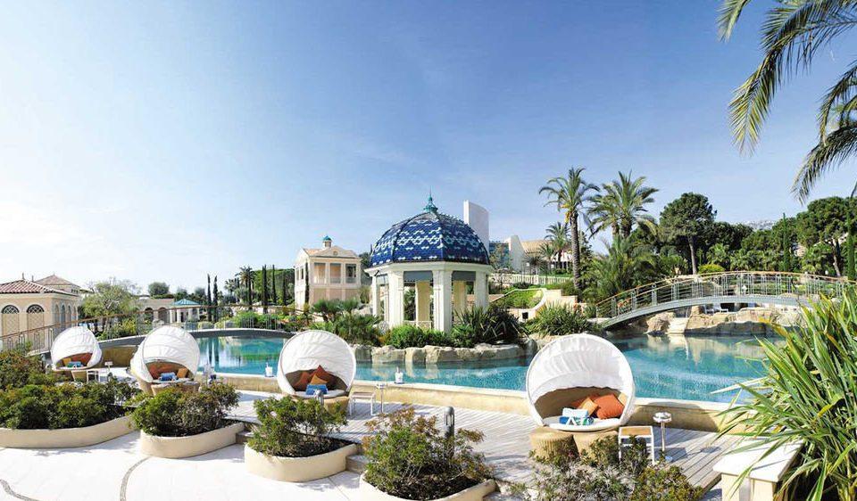 sky tree property Resort Villa condominium palace swimming pool mansion plant
