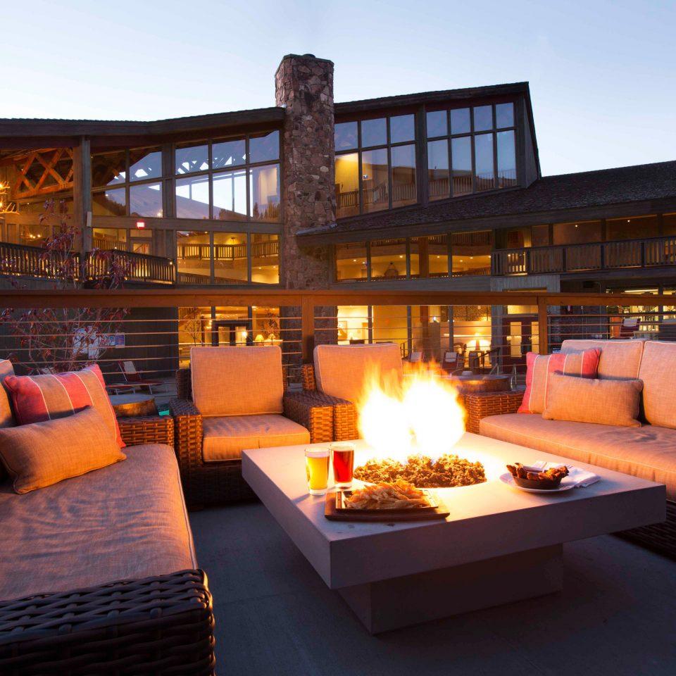 sky property living room home Villa Resort cottage orange