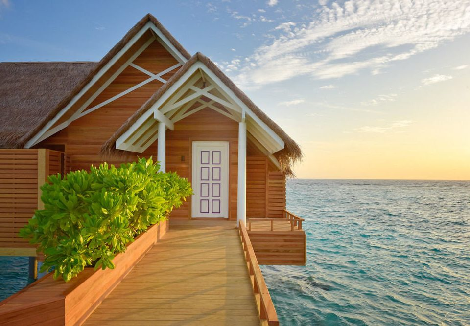 sky water house property home wooden cottage siding Villa Resort