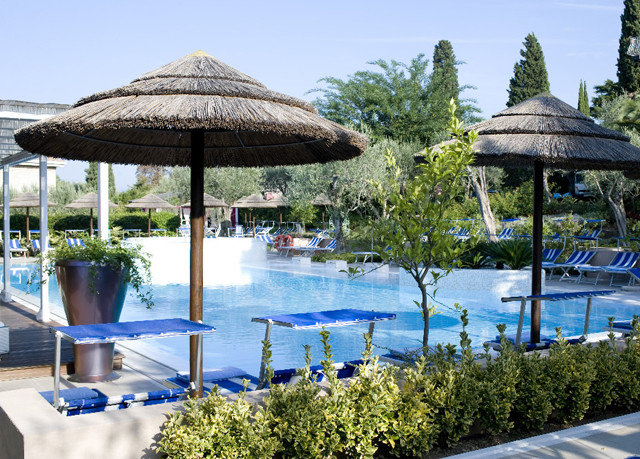 tree sky umbrella leisure Resort swimming pool lawn Villa shade day