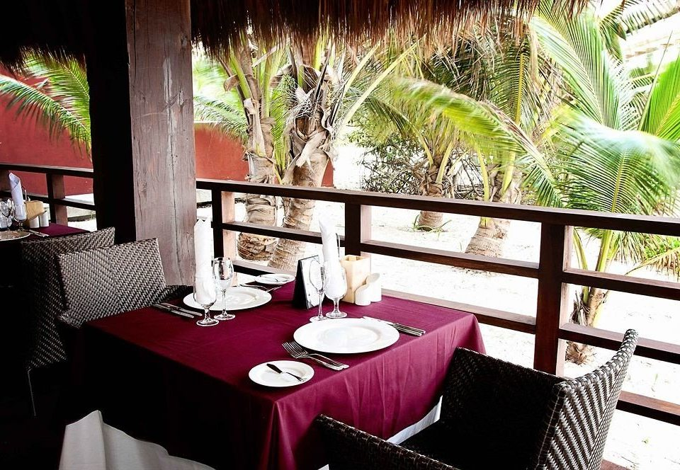 red restaurant Resort Villa dining table
