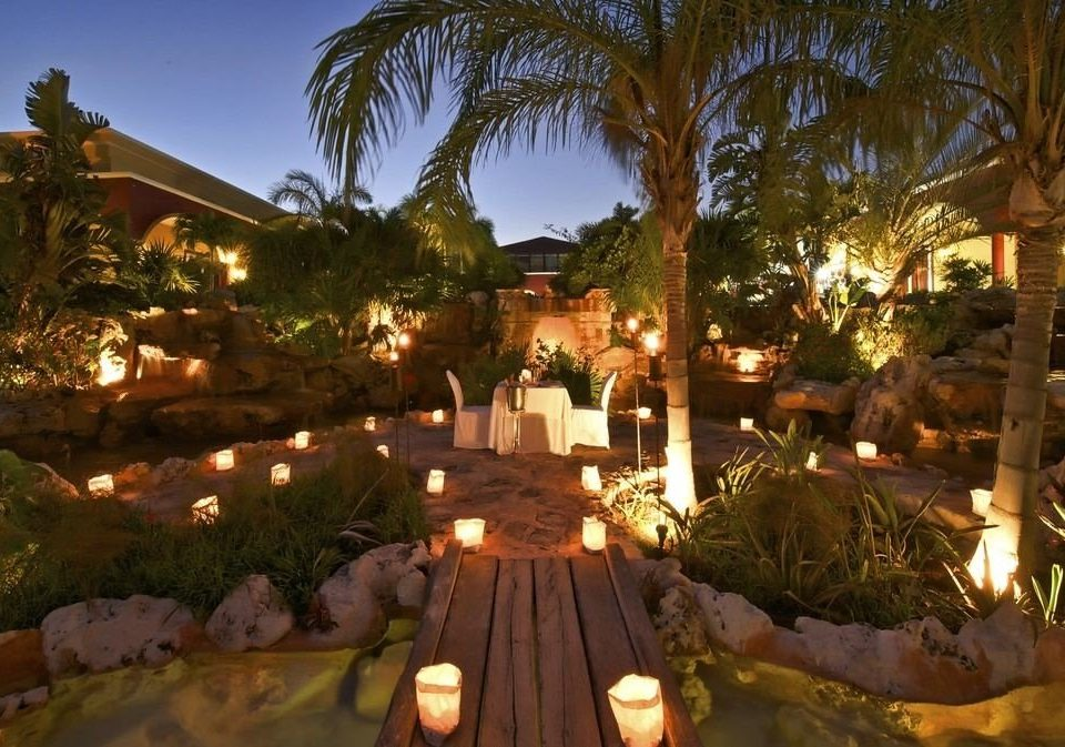 tree Resort hacienda Villa landscape lighting mansion