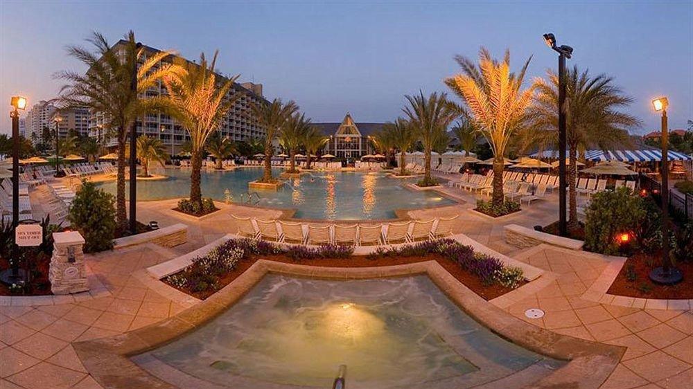 sky tree swimming pool property leisure Resort plaza light hacienda resort town palace Villa mansion plant palm