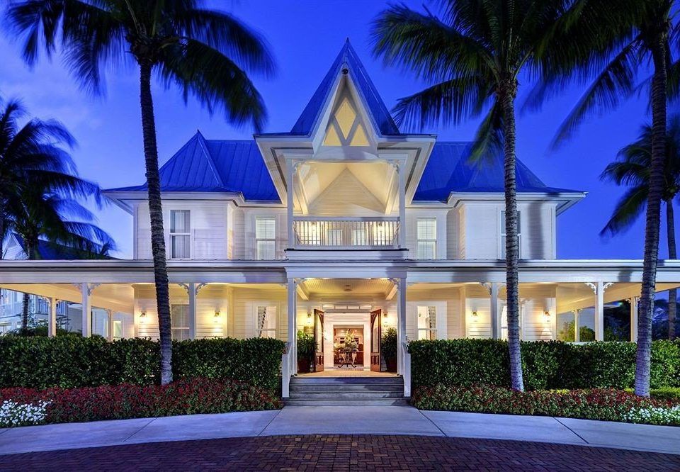 tree house home Resort palm mansion lighting Villa landscape lighting plant