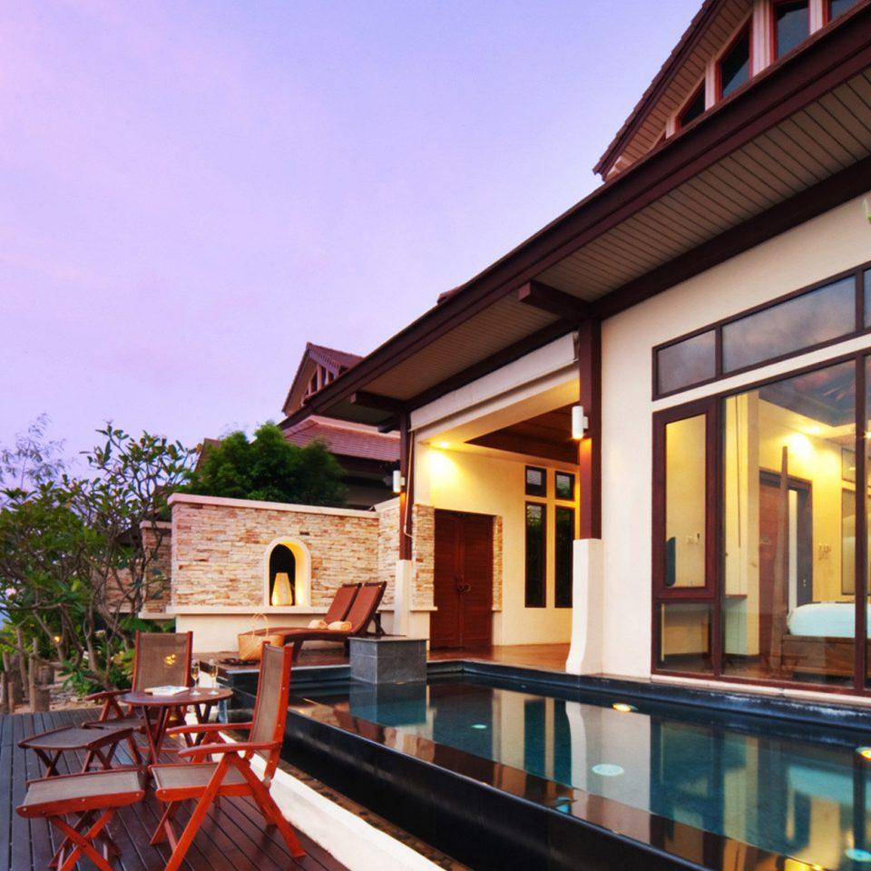 sky property Resort house home restaurant Villa