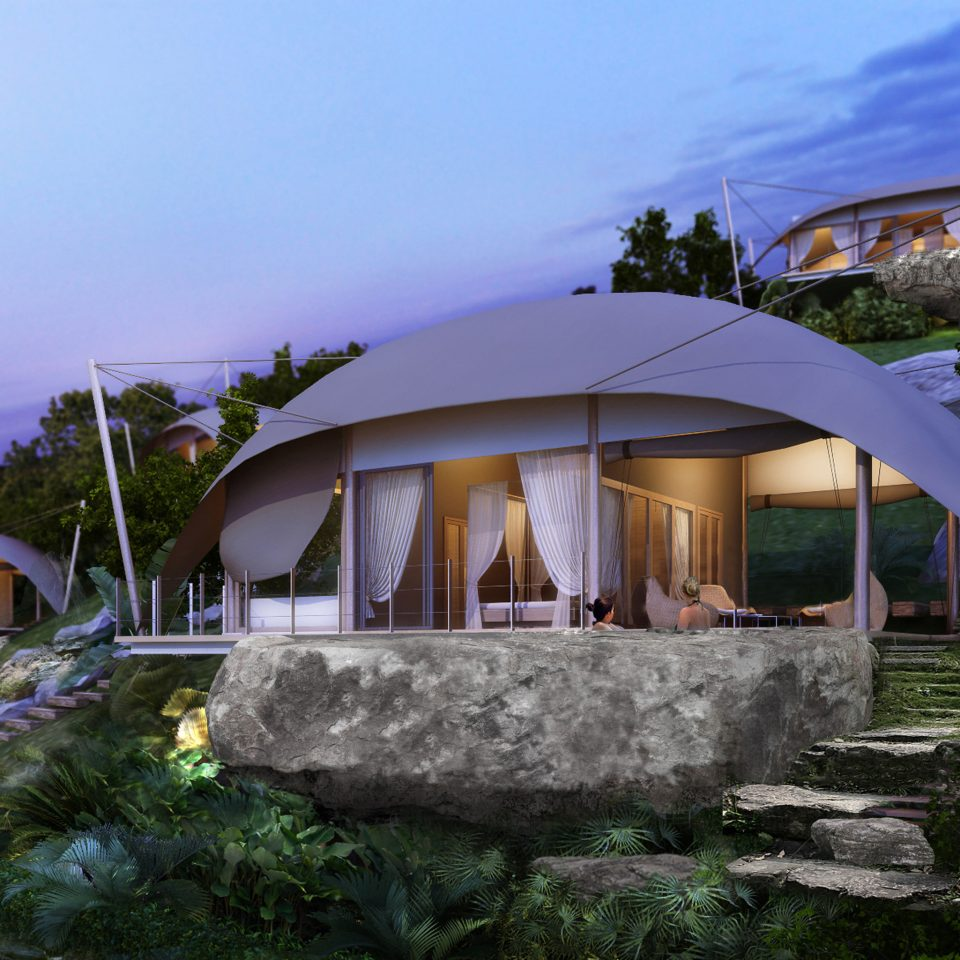 sky house Resort home Villa tent outdoor object stone