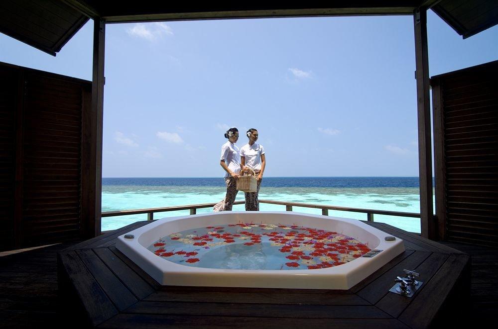 sky water swimming pool leisure jacuzzi Resort Villa overlooking