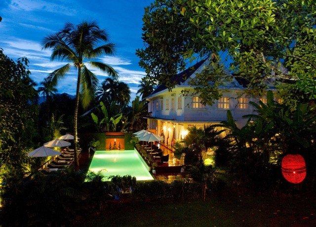 tree sky Resort plant Villa landscape lighting