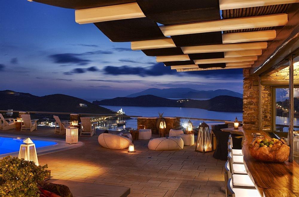 property Resort swimming pool lighting Villa