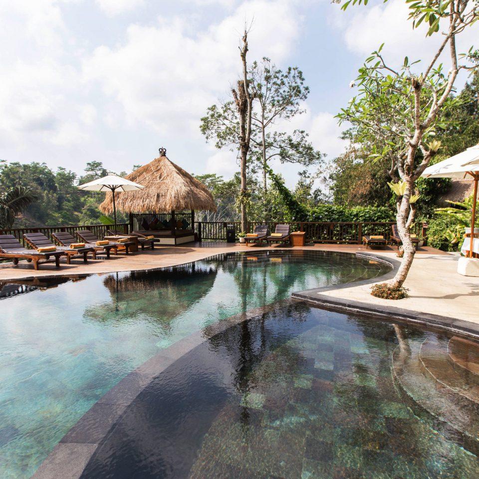 tree sky swimming pool property Resort backyard Villa waterway Village mansion