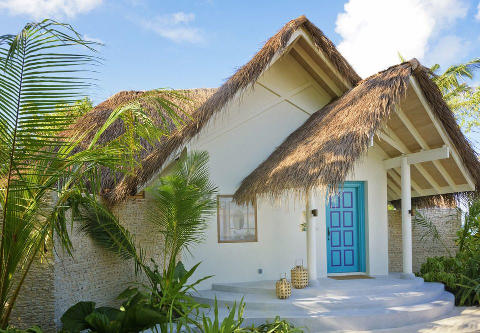 sky building property house home Resort Villa cottage Village hacienda thatching