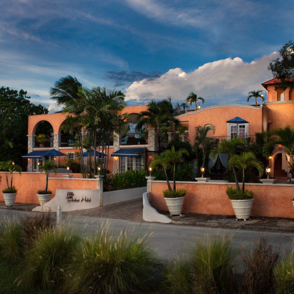 tree sky grass house Resort home Village arecales stone