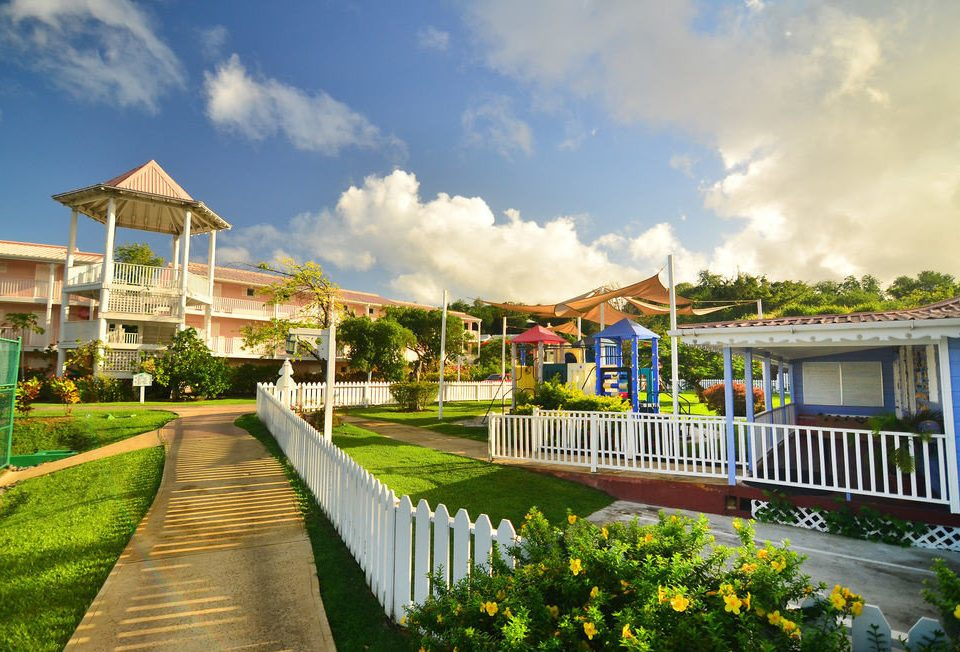 sky grass leisure Resort home walkway Village mansion colorful day