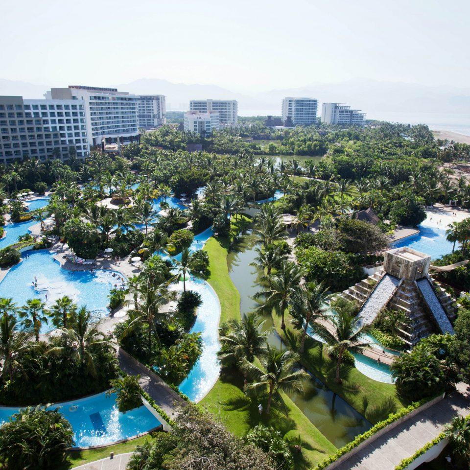 tree sky Resort amusement park aerial photography park bird's eye view Water park condominium marina reef