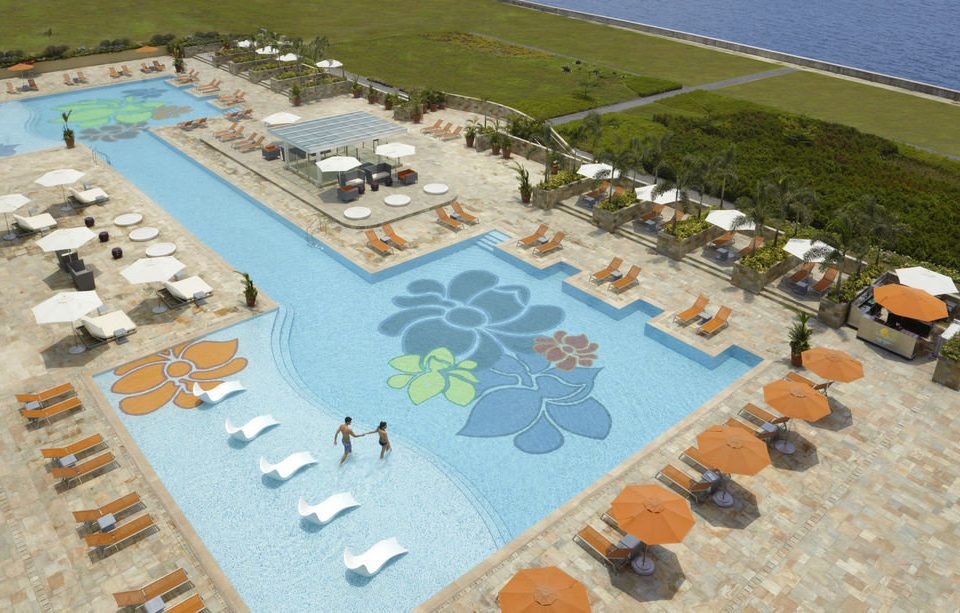 leisure swimming pool Water park Resort town square urban design aerial photography