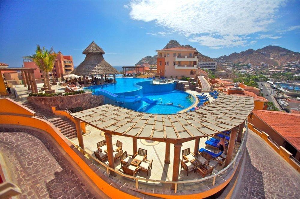 leisure mountain Resort swimming pool amusement park Water park panorama