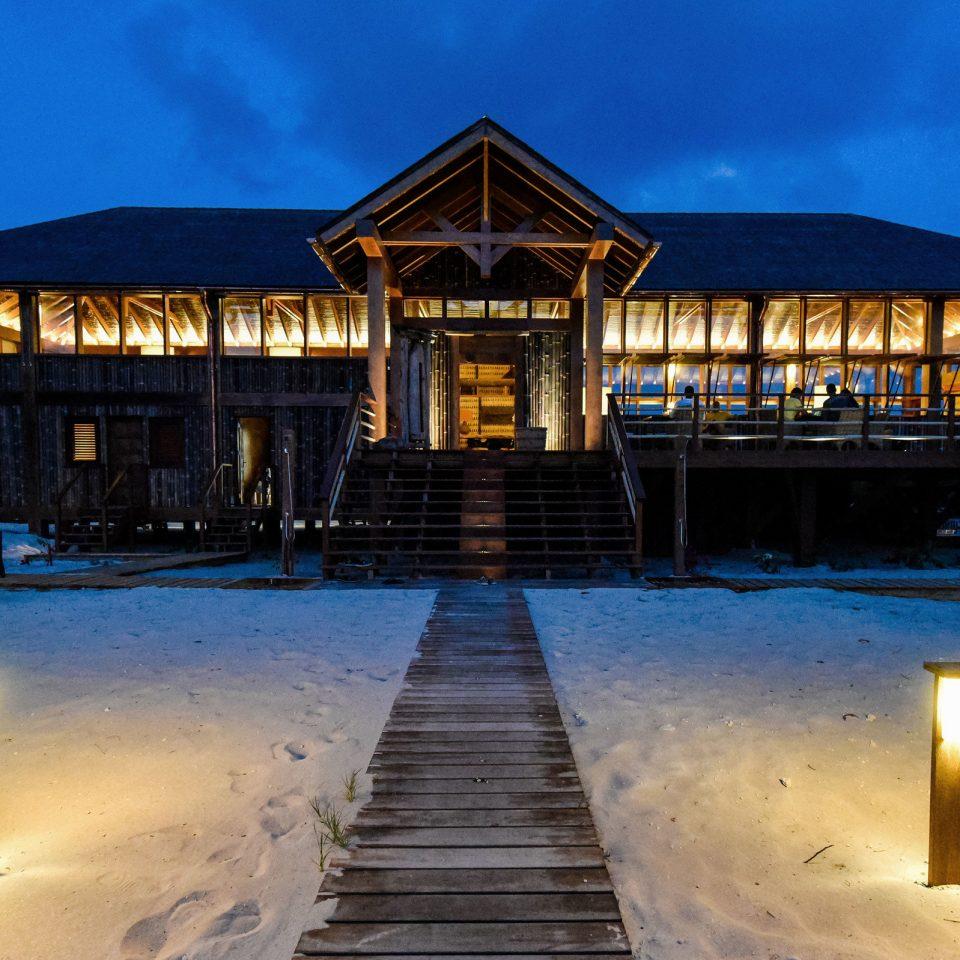 sky water night Resort Winter evening snow