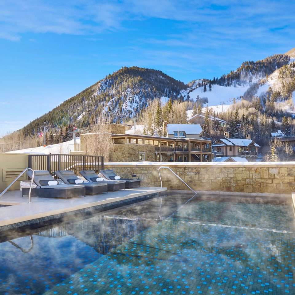 sky snow mountain swimming pool Winter season Resort