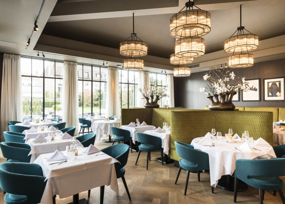 Restaurant at Dukes' Palace in Bruges Belgium
