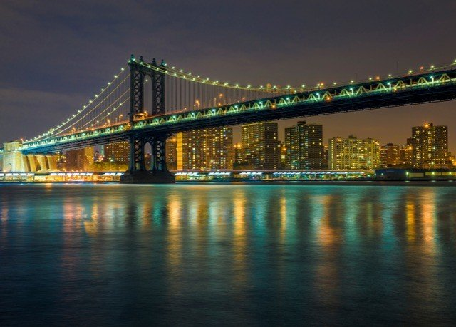 water sky bridge River landmark night cityscape metropolitan area scene evening skyline dusk long traveling distance