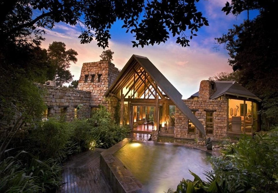tree house River home mansion landscape lighting cottage waterway Village farmhouse surrounded