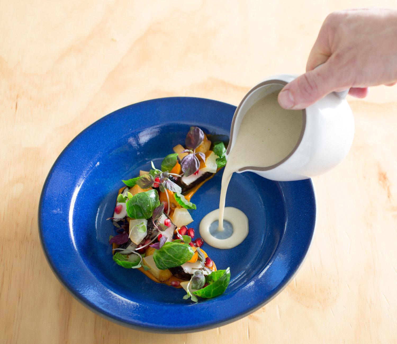 Food + Drink Trip Ideas table plate food indoor dish tableware blue dishware cuisine vegetable meal recipe vegetarian food