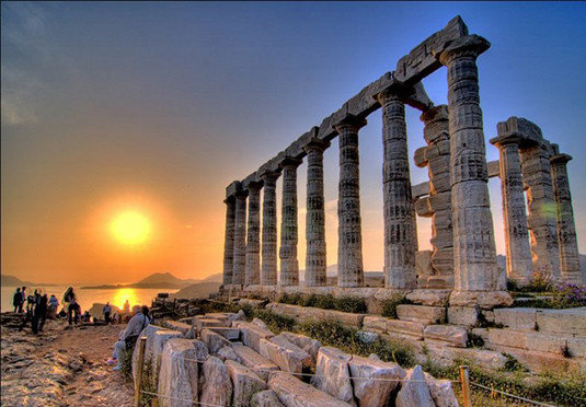 sky building landmark rock structure Ruins ancient history stone ancient roman architecture ruin colonnade column