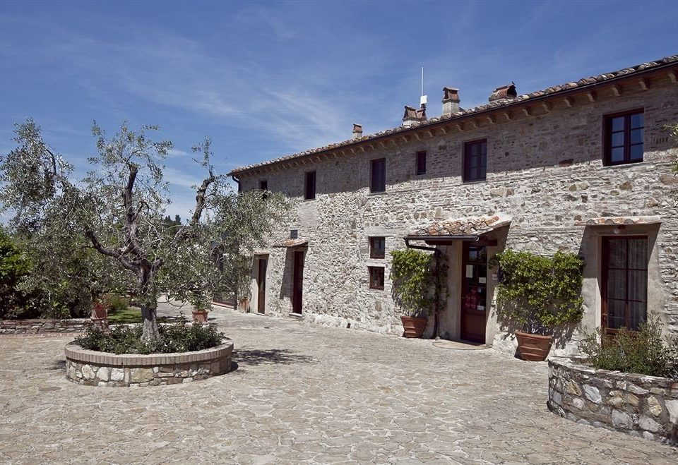 sky ground property house building Town stone Village Villa cottage hacienda home ancient history Ruins old cement