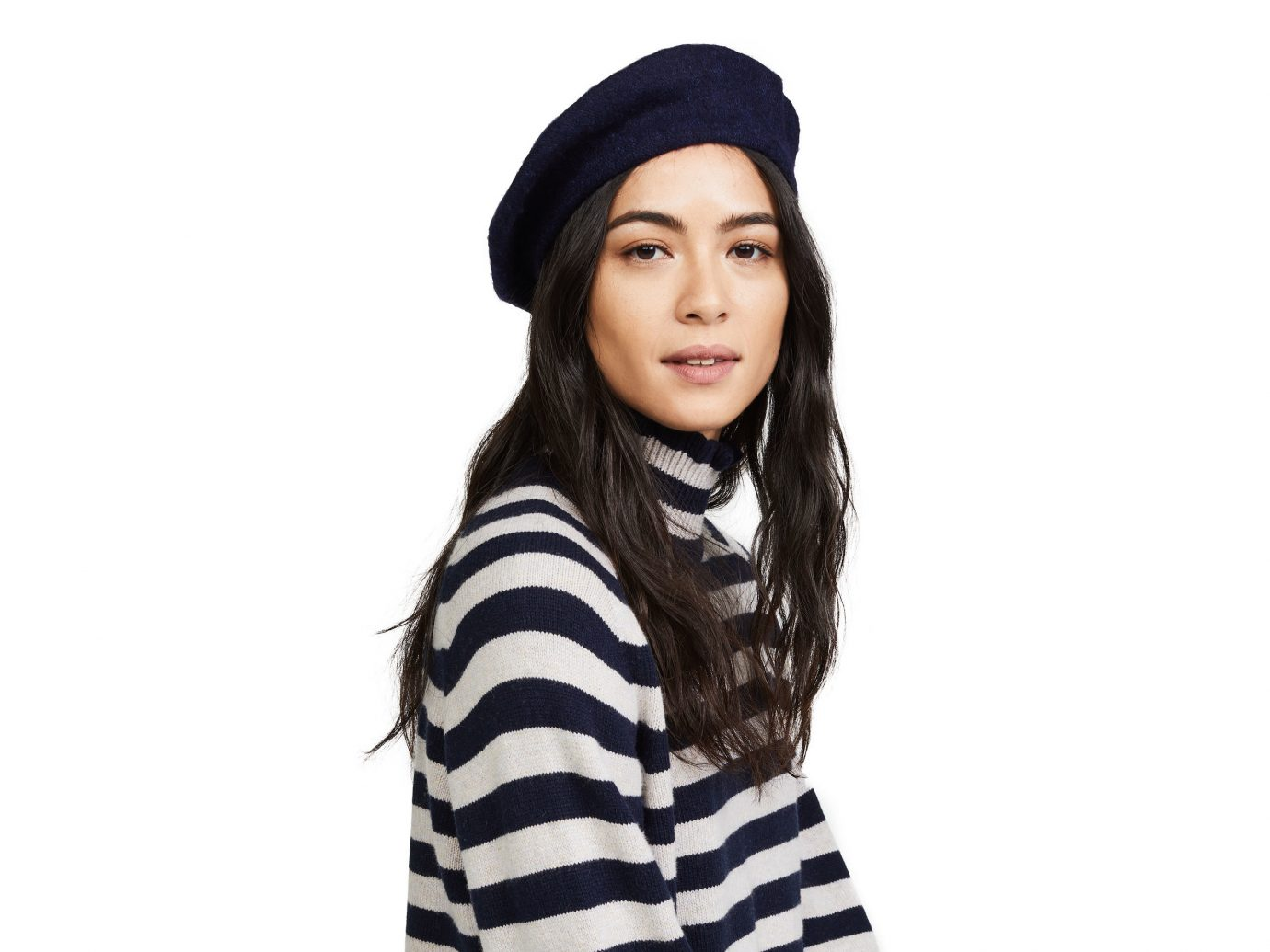 Travel Shop Travel Trends person clothing headgear cap beanie knit cap hat posing striped neck scarf pattern girl product