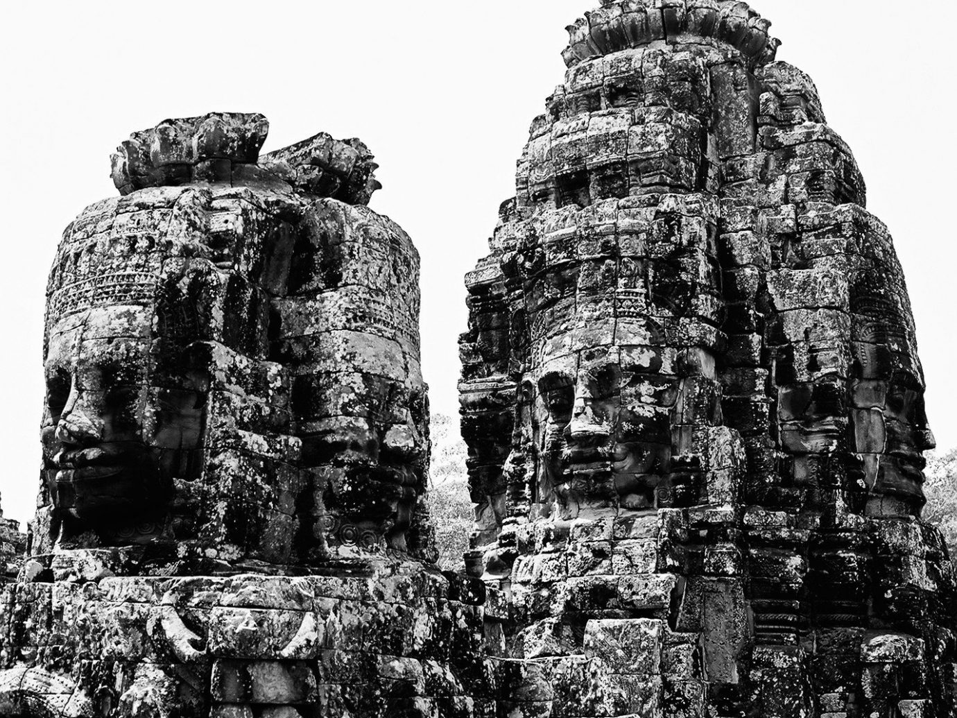 Offbeat tree black and white outdoor historic site archaeological site landmark stone carving hindu temple building monument monochrome photography rock Ruins statue monochrome ancient history place of worship temple maya civilization sculpture monolith old stone