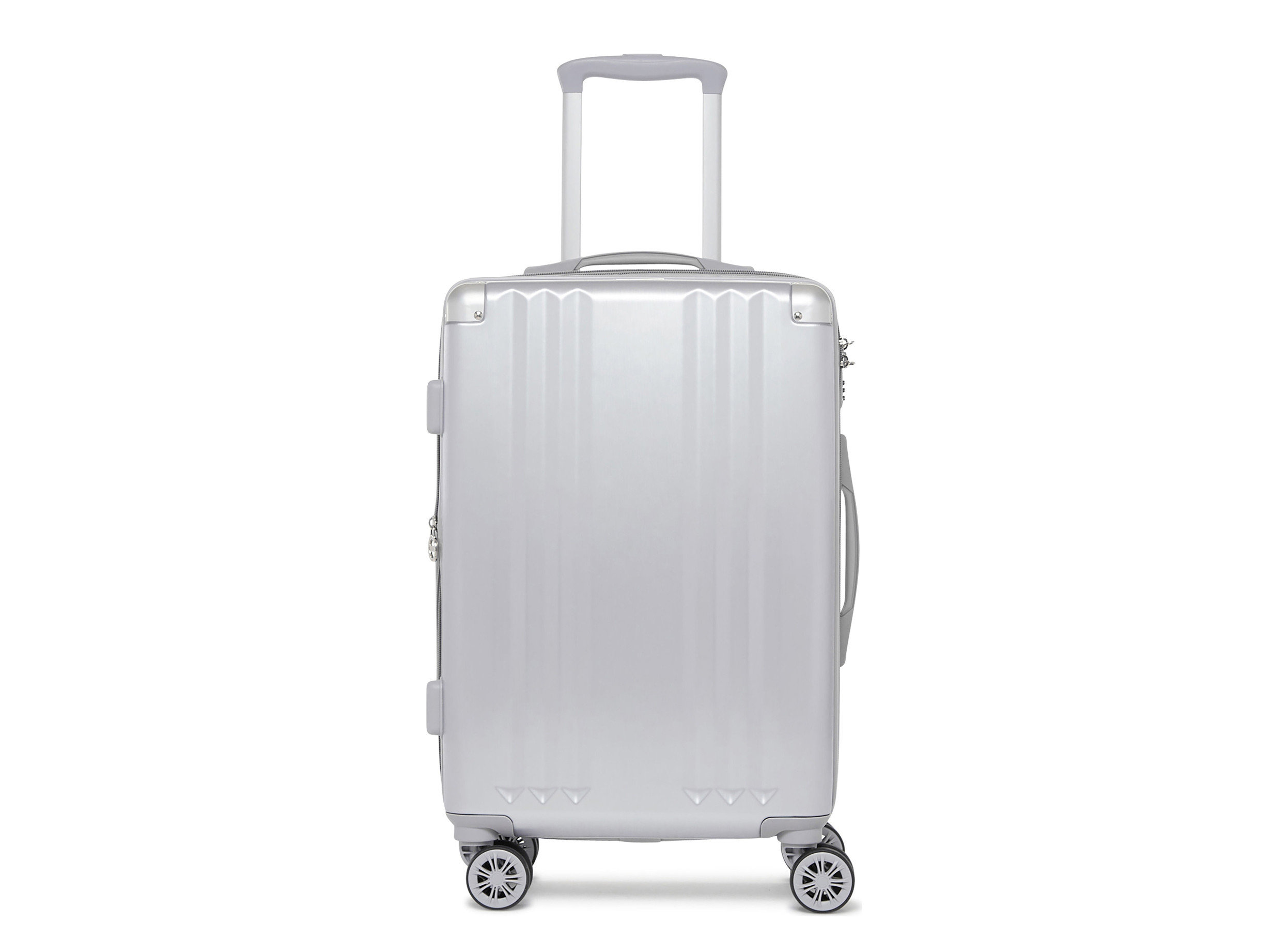 Style + Design white suitcase product product design hand luggage luggage & bags appliance metal silver kitchen appliance